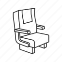 chair, furniture, office, office chair, seat, sit, sit down icon