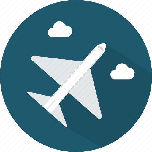 airplane, flight, fly, travel, vacation icon