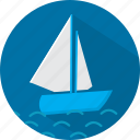 boat, sea, ship, travel, vacation icon
