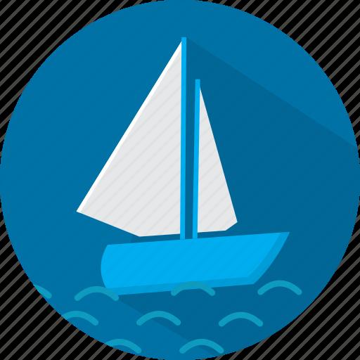 boat, sea, ship, travel, vacation icon