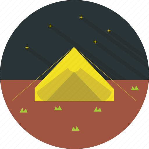 camping, travel, vacation icon
