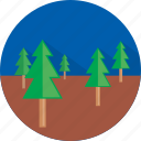 forest, travel, vacation icon