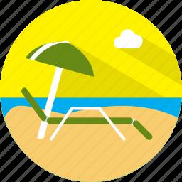 sunbathing, travel icon
