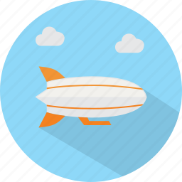 travel, vacation, zeppelin icon