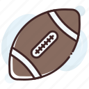 american football, rugby, rugby ball, sports, sports ball icon