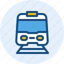 electric, holiday, train, travel, trip icon