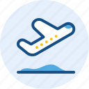 holiday, landing, travel, trip icon
