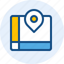 direction, holiday, map, travel, trip icon