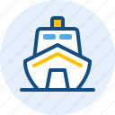 holiday, modern, ship, travel, trip icon