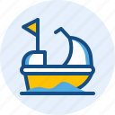 boat, holiday, speed, travel, trip icon