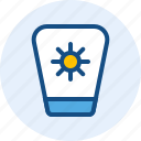 holiday, sunblock, travel, trip icon