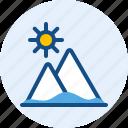 holiday, sunrise, travel, trip icon