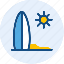 holiday, surf, travel, trip icon