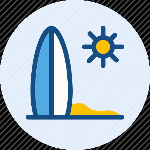 holiday, surf, travel, trip icon