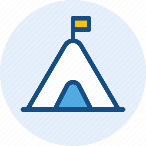 holiday, tent, travel, trip icon