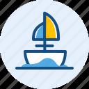 sea, ship, traditional, travel, trip icon