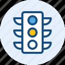light, road, traffic, travel, trip icon