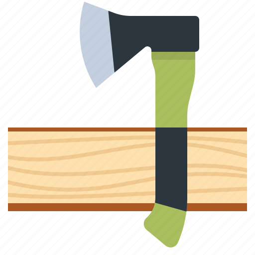 axe, camping, hatchet, wood icon