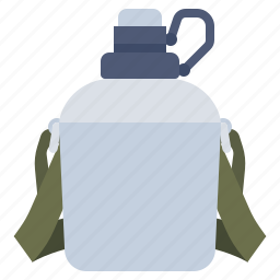 bottle, camping, canteen, water icon