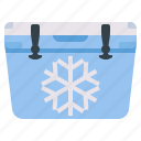 cold storage, cooler, icebox icon