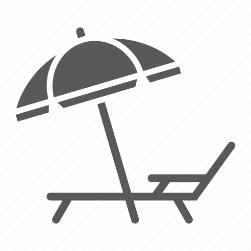 Beach, chair, deck, lounge, summer, sun, umbrella icon - Download on Iconfinder