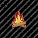 bonfire, flame, campfire, tour, fire
