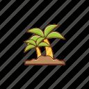 palm, tree, beach, summer, tour
