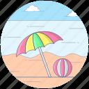 beach activity, beach ball, beach volleyball, handball, olympic sports, outdoor game icon