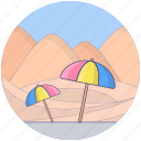 beach, entertainment, hill station, hilly place, island, tropical place icon