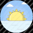 beach, morning, sunlight, sunrise, sunset icon