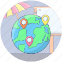 geotargeting, global location, international location, international travelling location, map pointer, world map icon
