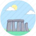 ancient, monument, standing stones, stonehenge, wonder of world icon