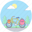 bicycle, cycle, cycling, pedal bike, pedal driven vehicle, travel icon