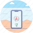 location app, mobile app, mobile location, navigational app, online navigation icon