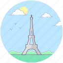 eiffel tower, french architecture, landmark, paris monument, tower icon