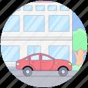 cab, car, car on road, road travel, sedan, taxi, travelling icon