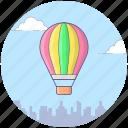 adventure, air flight, destination, exploration, hot air balloon icon