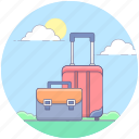 backpack, baggage, luggage, suitcases, travelling bag icon