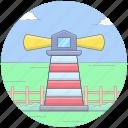 lighthouse, marine direction, navigational building, sea navigation, ship navigation icon
