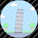 italian monument, landmark, leaning tower, pisa tower, renaissance icon