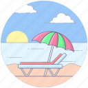 beach, entertainment, holiday, island, tropical place icon