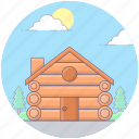 building, cottage, historical place, lodge, real estate icon