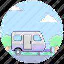 camper van, camping wagon, caravan, travelling in caravan, vanity van, volkswagen icon