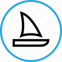 boat, outdoors, sail, travel, vacation icon