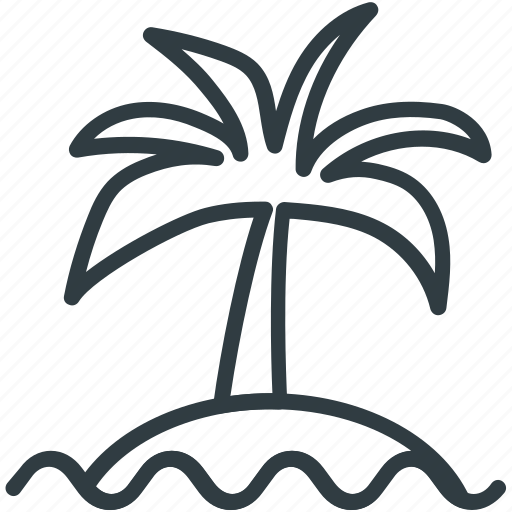 beach, coconut tree, date tree, island, palm, palm tree icon