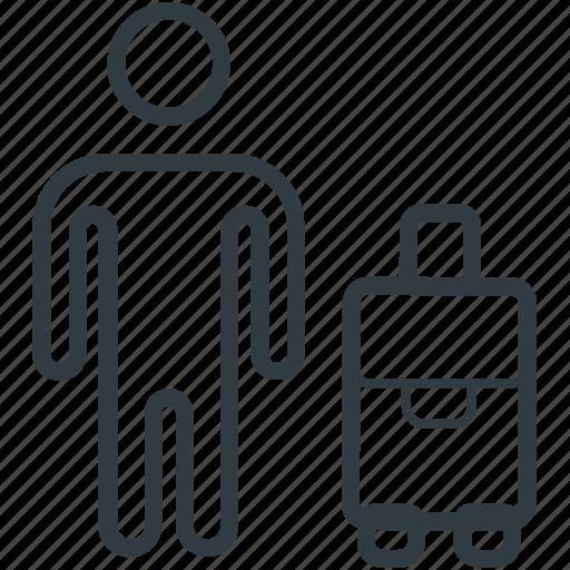 journeyer, passenger, tourist, traveler, voyager icon