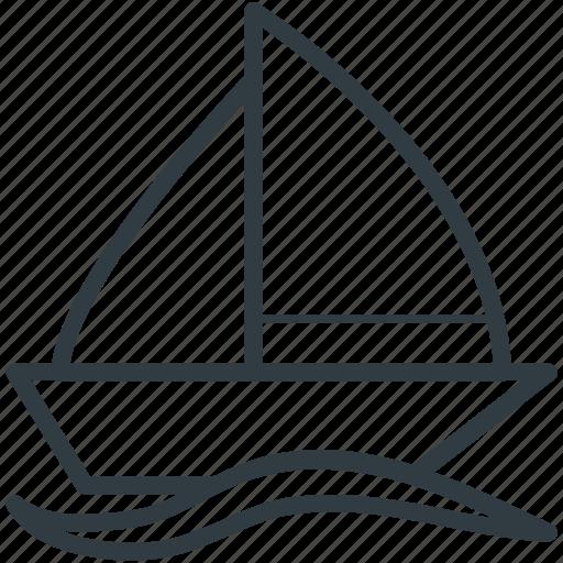 boat, sailboat, sailing vessel, ship, yacht icon