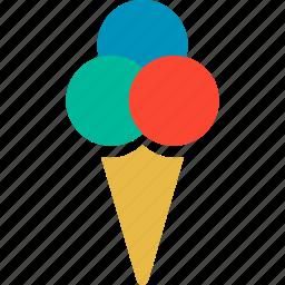cone, cone ice cream, dessert, ice cream icon