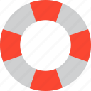 lifebelt, lifebuoy, lifeguard, lifesaver icon