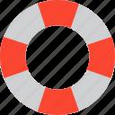 lifebelt, lifeguard, lifesaver, lifebuoy icon